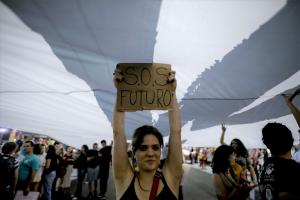 Young people want to have an impact on politics: Fridays for Future rally in São Paulo.