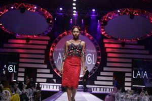 Africa's metropolitan middle class has similar consumer demand as its counterpart in industrial countries: fashion show in Lagos.