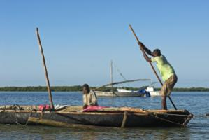 Coastal fishermen: Mozambique is still quite poor.