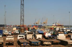 Mozambique primarily exports commodities: port of Maputo.