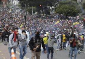 Higher gas prices led to mass protests in Ecuador in 2019.
