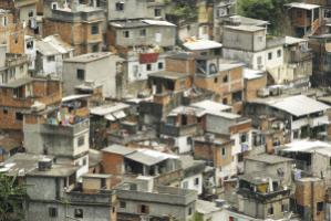 People who live in slums are more likely to develop mental disorders than other people. Favela in Rio de Janeiro.