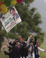 Lawyers' celebrating Iftikhar Chaudhry's reinstatement as chief justice in March 2009.