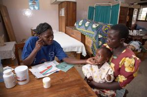 In Tanzania, each child has to visit a Reproductive and Child Health (RCH) clinic every month for health exams: Mother-child clinic in Kalabezo.