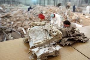 Retrieving documents from the ruins of Cologne's historical archive in March 2009.