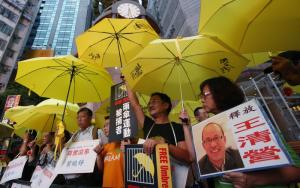 Protest in Hong Kong: China's human-rights record is casting a long shadow over how the AIIB might operate in the future.