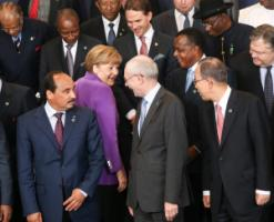 German Chancellor Angela Merkel at the EU-Africa Summit in Brussels last year.