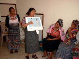 Training course for traditional midwives in Guatemala.