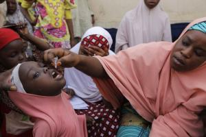 Polio vaccination in Nigeria.