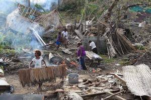 Cyclone damages in Vanuatu in March: small island developing states are particularly vulnerable to climate change.