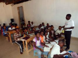 Lessons at the Sun-spring Charity School in Lusaka, Zambia.