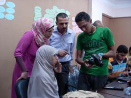 Online journalists  in Cairo, Egypt.