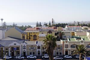 In Namibia,  the rich get richer and the poor get poorer: view on Swakopmund, a popular holiday destination for rich Namibians.