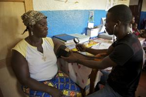 More money has been spent on social sectors: a health centre in Liberia.