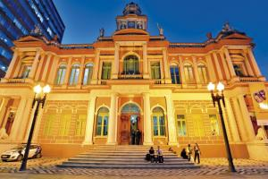 """Porto Alegre has taken interesting approaches to involving citizens in public decision making"": the Brazilian city's historical town hall."
