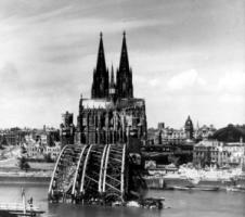 Cologne was destroyed by  allied air raids:  When German policymakers speak of a Marshall Plan, they think of an economic miracle after a devastating, self-inflicted war.