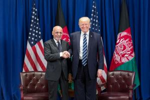 Das war 2017: Trump und Ghani in New York.