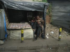 Young street vendors in Nairobi.