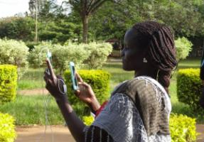 South Sudanese journalist working in Kenya.