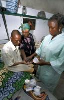 The progress made in the fight against HIV/Aids is not enough: A person living with  HIV is given medication in Abomey.