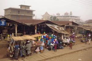 The more people pay taxes, the better: market in Porto Novo, Benin.
