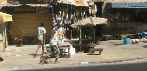 Many African youngsters are disaffected – street scene in Dakar.