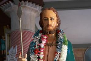 Statue of St. Thomas  who is said to have brought the Christian faith to Kerala in 52 AD.