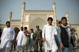 Religion has become a politically defining factor in Afghanistan: Eid Gah mosque in Kabul.