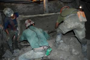 Miners who witnessed or personally experienced violence showed more mental-distress symptoms than those who had not: inside a Bolivian mine.