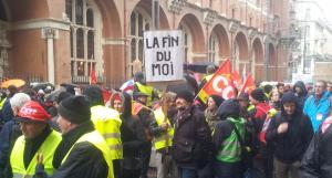 "Protest der ""Gelbwesten"" Anfang 2019 in Toulouse."