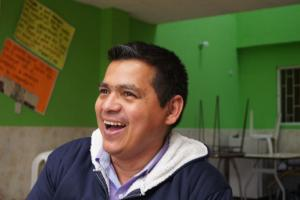 Sabas Duque, a former FARC combatant, is now the director of a Centre for Reconciliation in Bogotá.