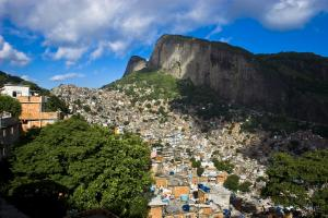 A city in the city: Rocinha is home to some 200,000 people.