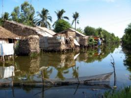 Coastal villages in the Mekong Delta are particularly hard hit by climate change.