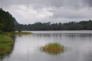 One of the few water reservoirs in Mauritius.