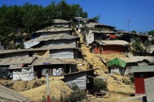 Balukhali Refugee Camp in south-eastern Bangladesh in February 2019.