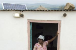 Solar panels make  a difference in Kwazulu Natal, South Africa.