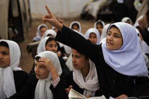 Girls want to have asay too: school girls in Afghanistan.