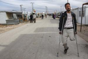 Many Syrian ­refugees remain disabled for life: Refugee camp  in Zaatari, Jordan.