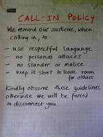 Guideline for callers of community radio in Nakuru, Kenya.