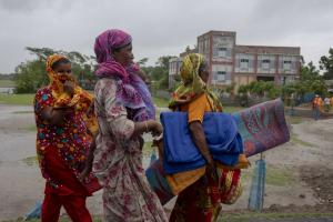 Cyclone shelters saved lives: rural women seeking refuge on 20 May 2020.