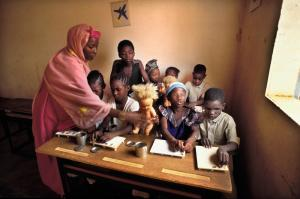In many African countries, disabled children face a hard life: school for blind and visually-impaired children in Niger.