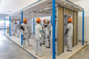 The German company Knauf trains architects, civil engineers, construction workers and craftsmen in different countries in Africa: training centre in Algeria.