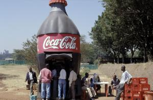 Coca-Cola and other companies market their products aggressively in developing countries and emerging markets, as here in Nairobi, Kenya.