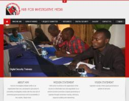 The website of the Hub for Investigative Media.