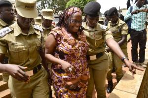 University lecturer Stella Nyanzi arrested in the Ugandan capital Kampala.