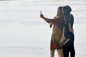 Among the lucky few: only one quarter of Pakistan's women has a mobile phone of their own.