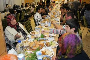 Islam is part of Germany: Muslims break their fast at the Turkish-Islamic DITIB mosque in Göttingen in 2012.