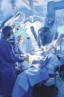 Robot-assisted surgery in Mexico City.