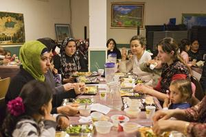 Interreligious cooperation is very important. Breaking the fast during Ramadan in Groningen, Netherlands.