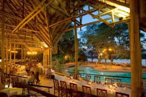 Tourists need accommodation, providing it  creates jobs: lodge on the bank of the Chobe River in the KAZA Conservation Area.